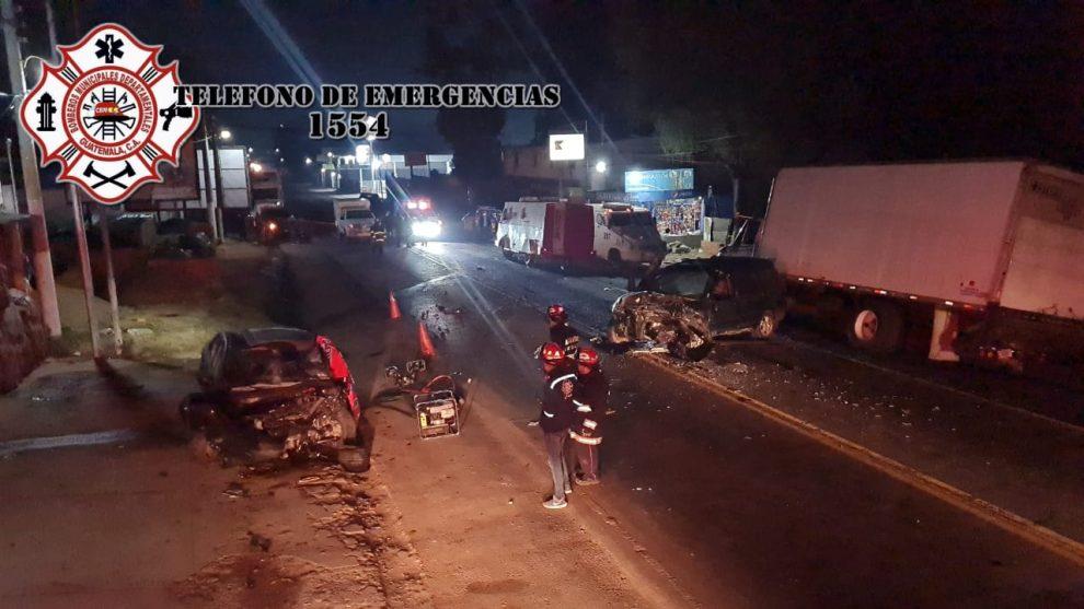 accidente de tránsito en Km. 50 de ruta Interamericana