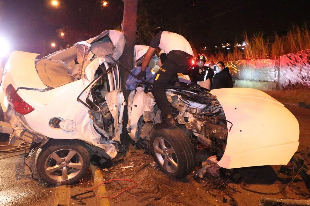 accidente de tránsito en la zona 5