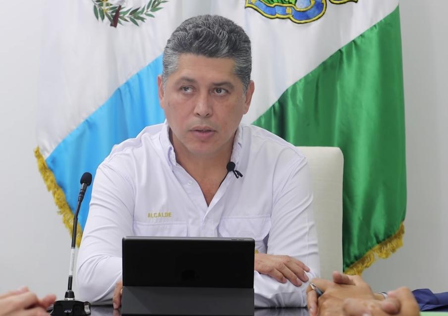El alcalde de Antigua Guatemala, Víctor Hugo del Pozo.