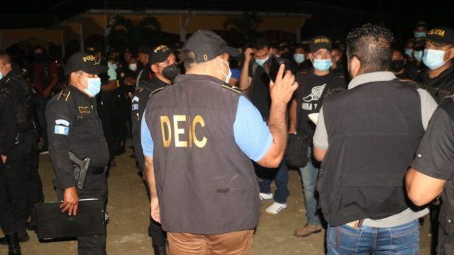 allanamientos contra el crimen organizado en Izabal