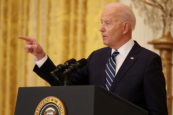 Joe Biden en rueda de prensa