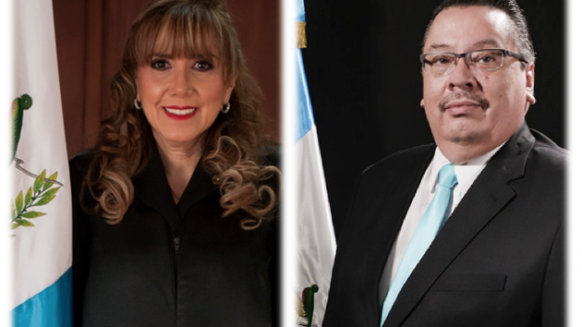 Dina Ochoa y Luis Rosales, magistrados de la Corte de Constitucionalidad electos por el Congreso