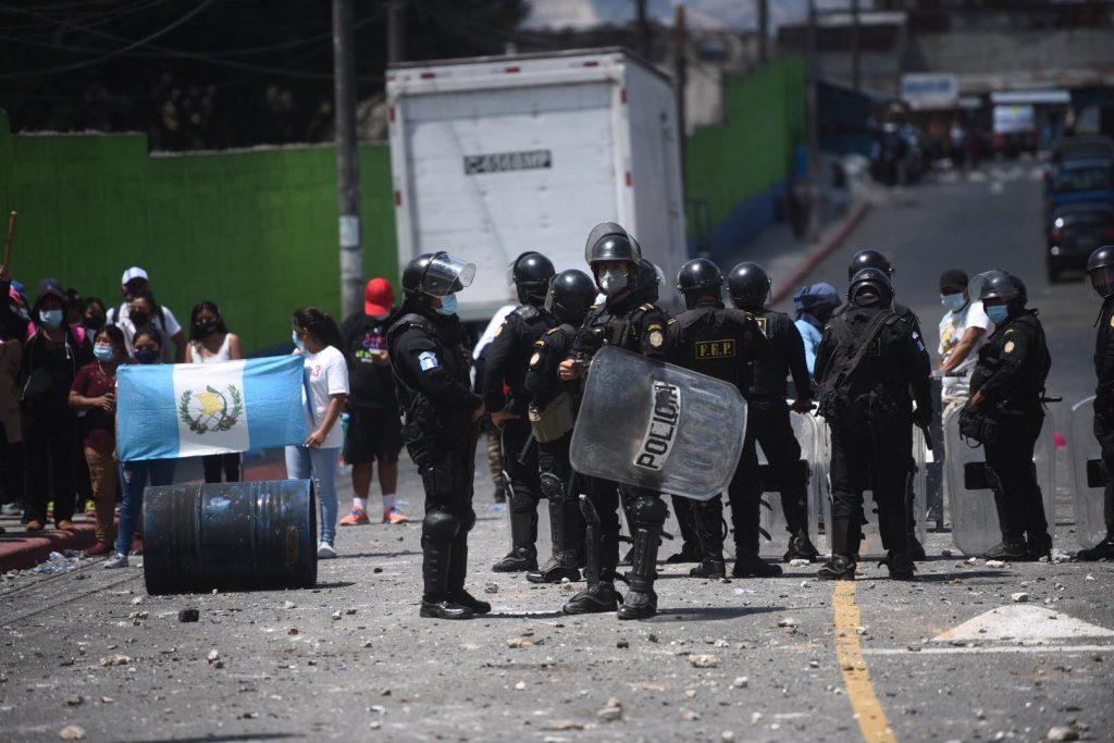 disturbios en Nimajuyú, zona 21
