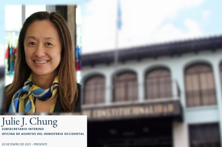 Julie Chung, subsecretaria interina de la Oficina de Asuntos del Hemisferio Occidental del Departamento de Estado