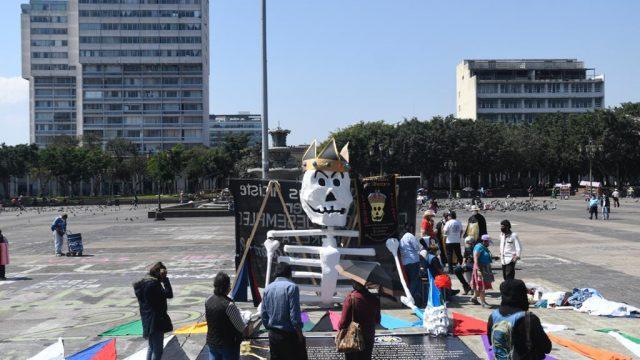 Huelga de Dolores 2021, plaza de la Constitución, 100 años de La Chalana