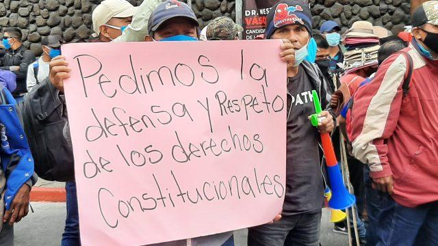 manifestación de organizaciones por elección de magistrados de Corte de Constitucionalidad