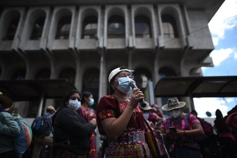 manifestaciones para pedir transparencia en elección de magistrados de Corte de Constitucionalidad