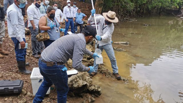 Verificación posible contaminación del río Sepur