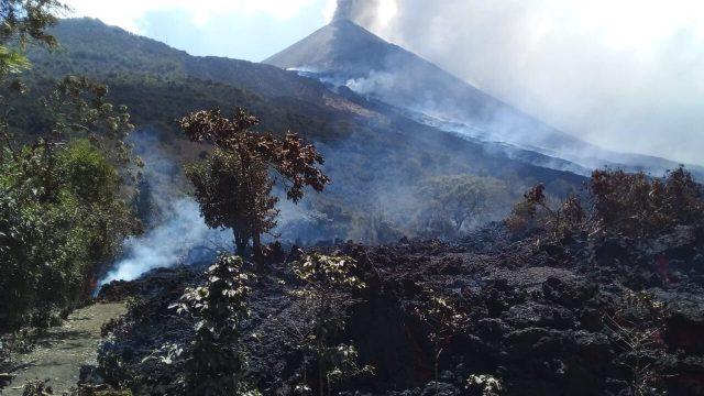flujo de lava del volcán de Pacaya