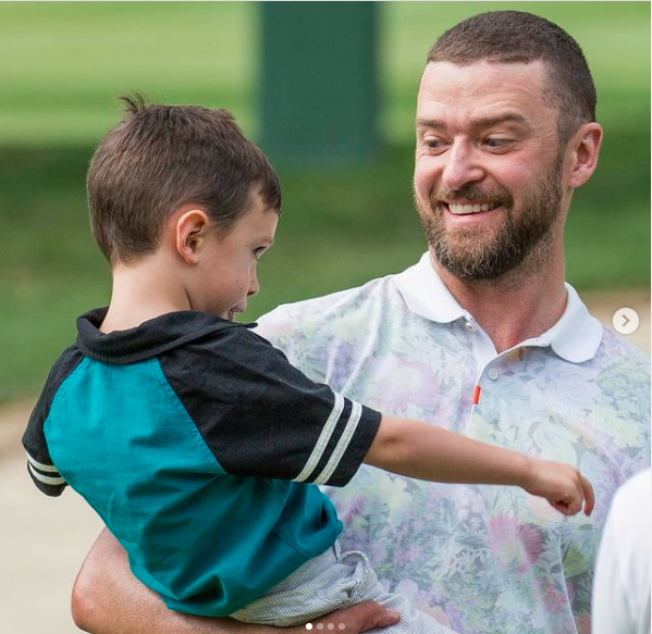 Justin Timberlake y su hijo
