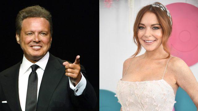 Lindsay Lohan y Luis Miguel
