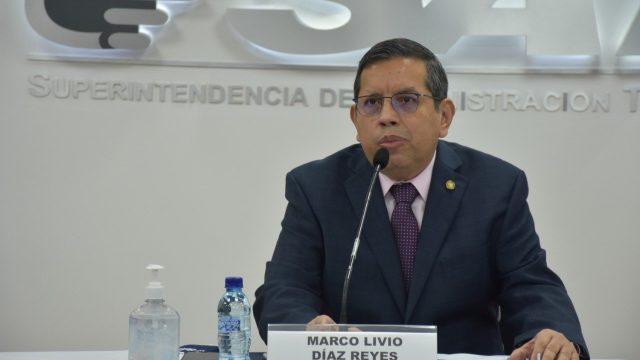Marco Livio Díaz, jefe de la Superintendencia de Administración Tributaria (SAT).