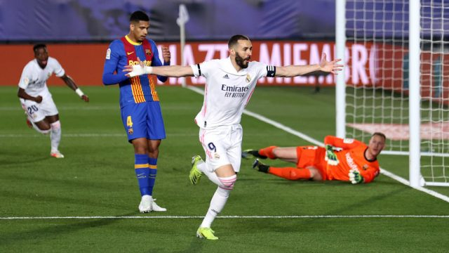 Triunfo del Real Madrid sobre el Barcelona