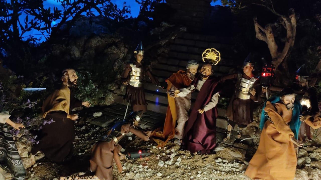 Representación de la pasión de Cristo. Tradición de Semana Santa.