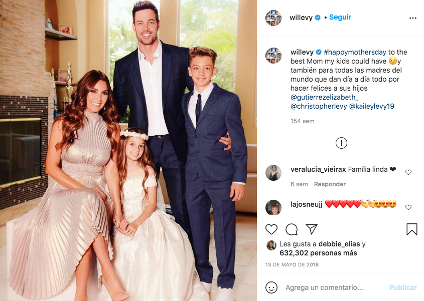 William Levy y su familia