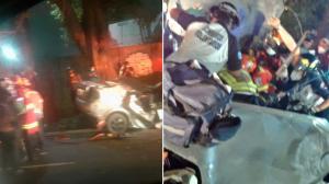 IMÁGENES. Bomberos rescatan a un hombre tras brutal accidente en la Atanasio Tzul