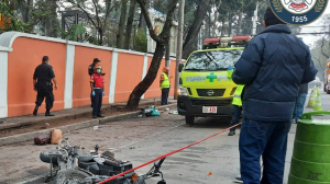 accidente de motocicleta en zona 9