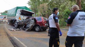 accidente de tránsito deja cinco personas muertas en Jutiapa