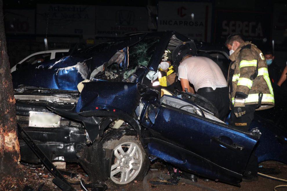 accidente de tránsito en Mixco