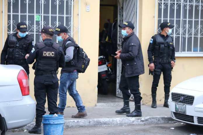 allanamientos contra extorsiones en departamento de Guatemala