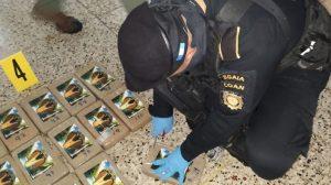 Decomisan 104 paquetes de cocaína