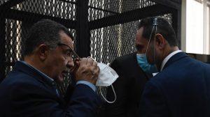 Murphy Paiz y Estuardo Gálvez en audiencia del caso Comisiones Paralelas 2020