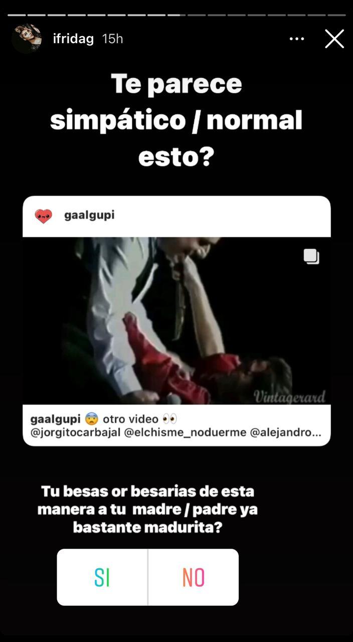 Frida Sofía beso Alejandra Guzmán Enrique