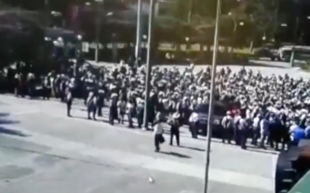 Veteranos del Ejército manifiestan en la Ciudad de Guatemala