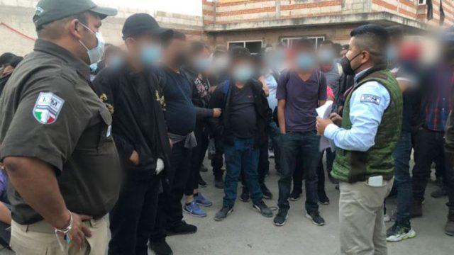 Migrantes son rescatados en San Pablo del Monte, México
