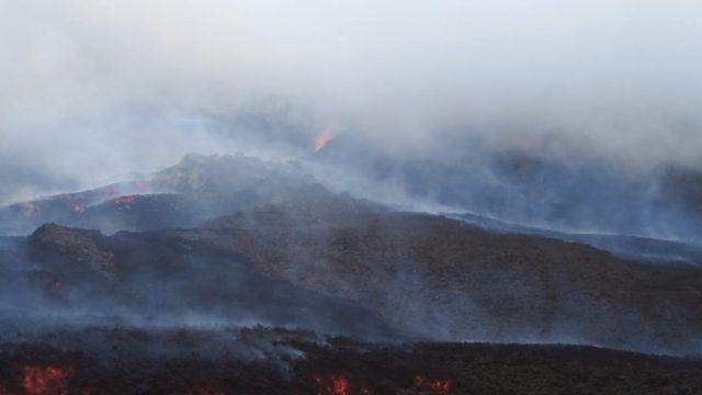 Volcán de Pacaya presenta nueva fisura