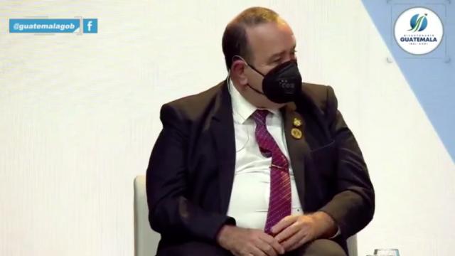 presidente Alejandro Giammattei en encuentro empresarial en Andorra