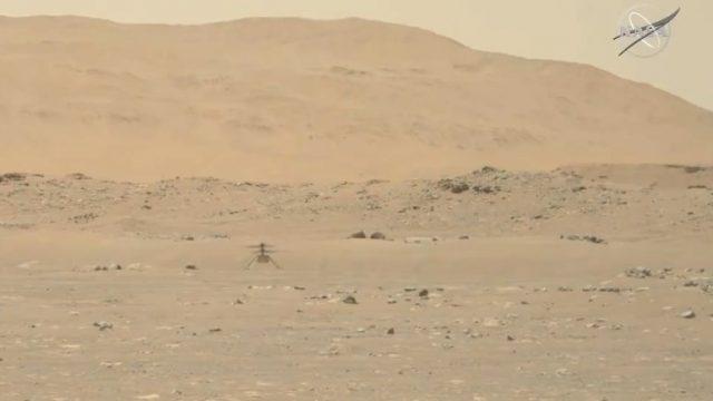 Helicóptero Ingenuity, de la NASA, completa su primer vuelo en Marte