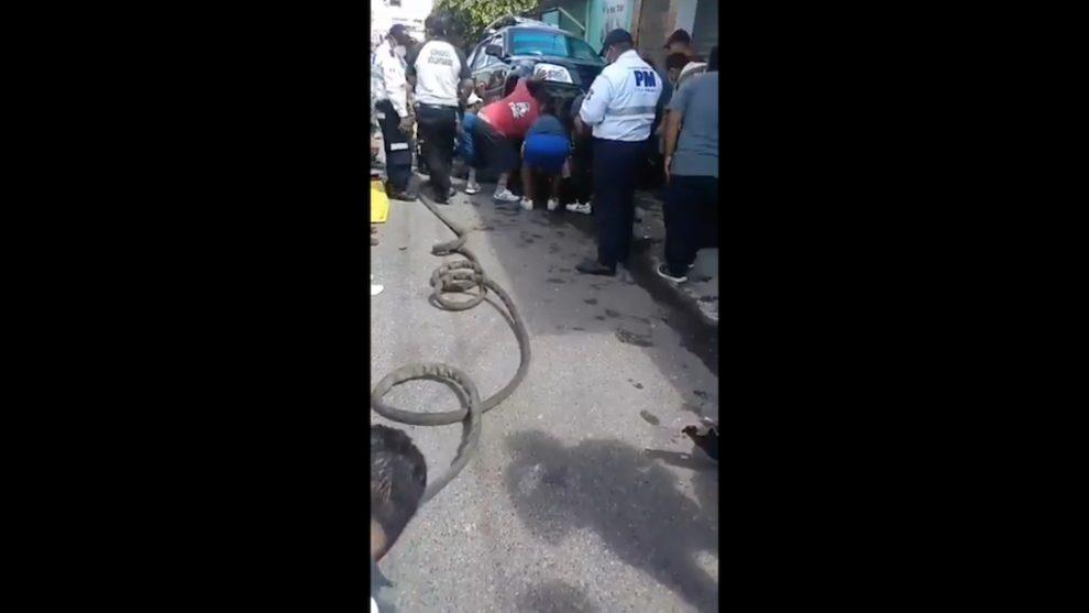 Accidente de tránsito en Mixco.