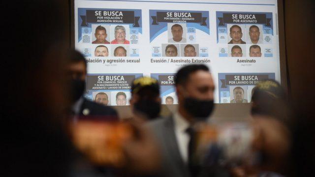 """El Ministerio de Gobernación dio a conocer la lista de """"los más buscados"""" por las autoridades guatemaltecas."""