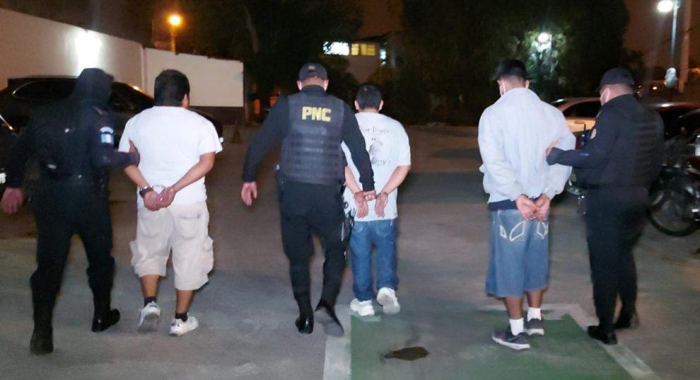 asaltantes capturados en La Florida, zona 19