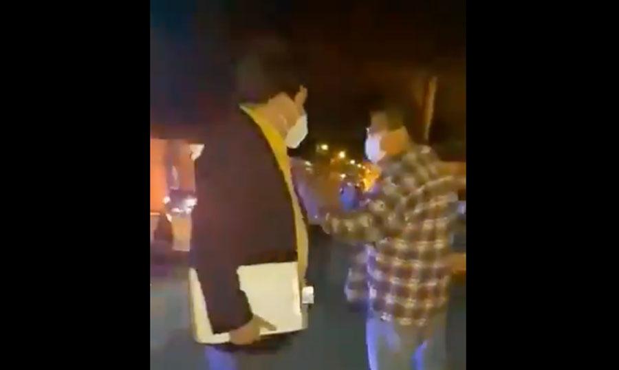 Juez de La Antigua Guatemala agrede a un vecino