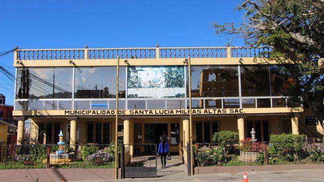 Edificio de la Municipalidad de Santa Lucía Milpas Altas
