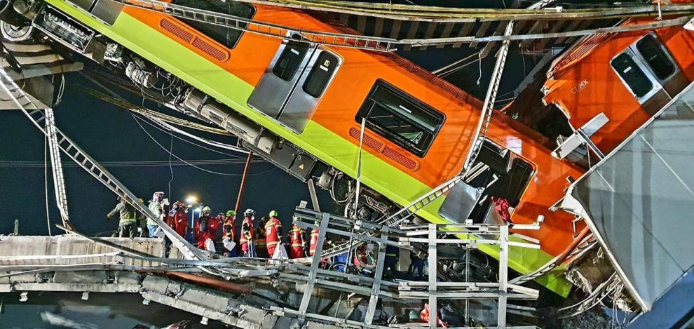 Accidente de metro en la Ciudad de México