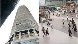 Rascacielos se sacude de forma inexplicable en Shenzhen, China