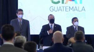 En la asamblea número 55 del Centro Interamericano de Administraciones Tributarias (CIAT) participó el presidente, Alejandro Giammattei.