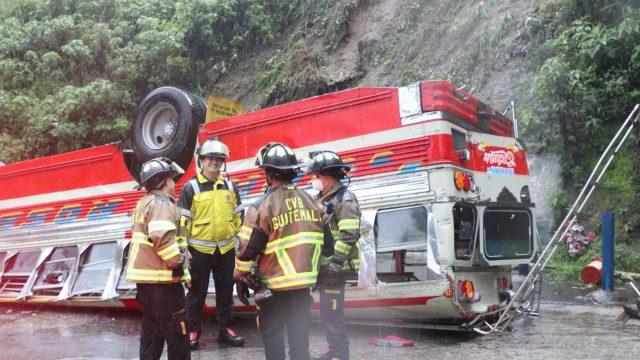 accidente de bus en Mixco