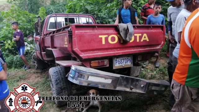 accidente en San MIguel Tucurú, Alta Verapaz