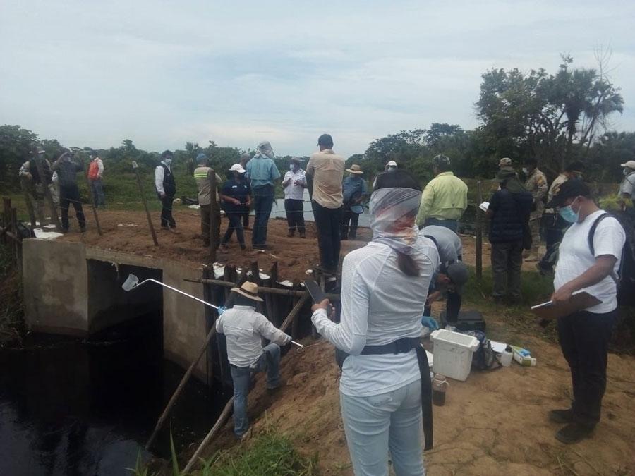 Inspeccionan posible contaminación en Manchón Guamuchal