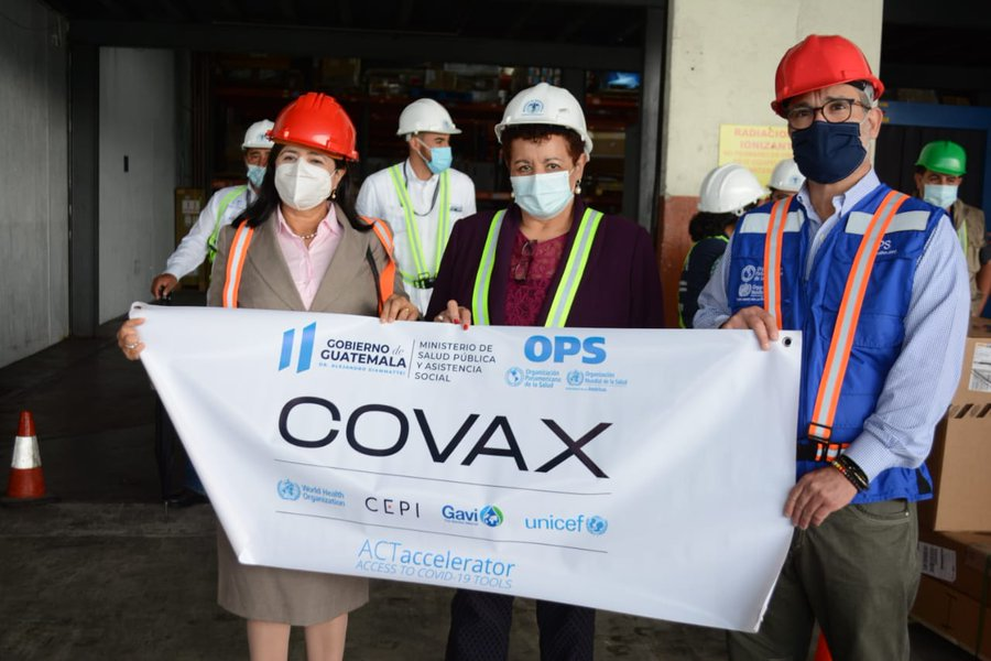Guatemala recibe más de 300 mil dosis contra Covid-19