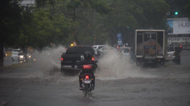 lluvias en la capital de Guatemala