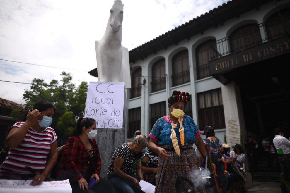 manifestación de la Red Nacional por la Defensa de la Soberanía Alimentaria en Guatemala