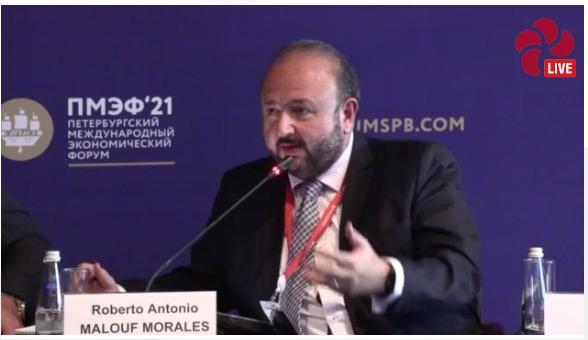 ministro de Economía, Antonio Malouf, participa en foro en San Petersburgo