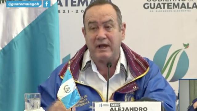 presidente Alejandro Giammattei habla sobre Covid-19