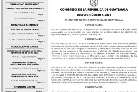 """Giammattei sanciona leyes de zonas francas y """"antitrámites"""""""
