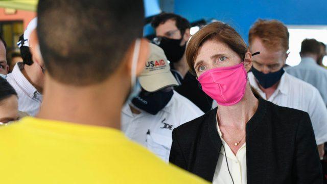 Samantha Power, jefa de USAID, visita El Salvador